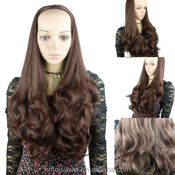 brazilian virgin human hair half wig