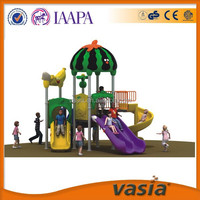 Children Plastic Double Slide & Swing Used Outdoor Playground