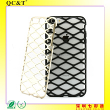 Colorful Heat transfer Heat dissipation PC TPU 2 in 1 Hybrid Net Phone Case For 6 plus