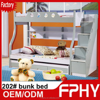 FPHY Modern Children Bedroom 202# Pink Blue Red MDF steel tube bunk bed