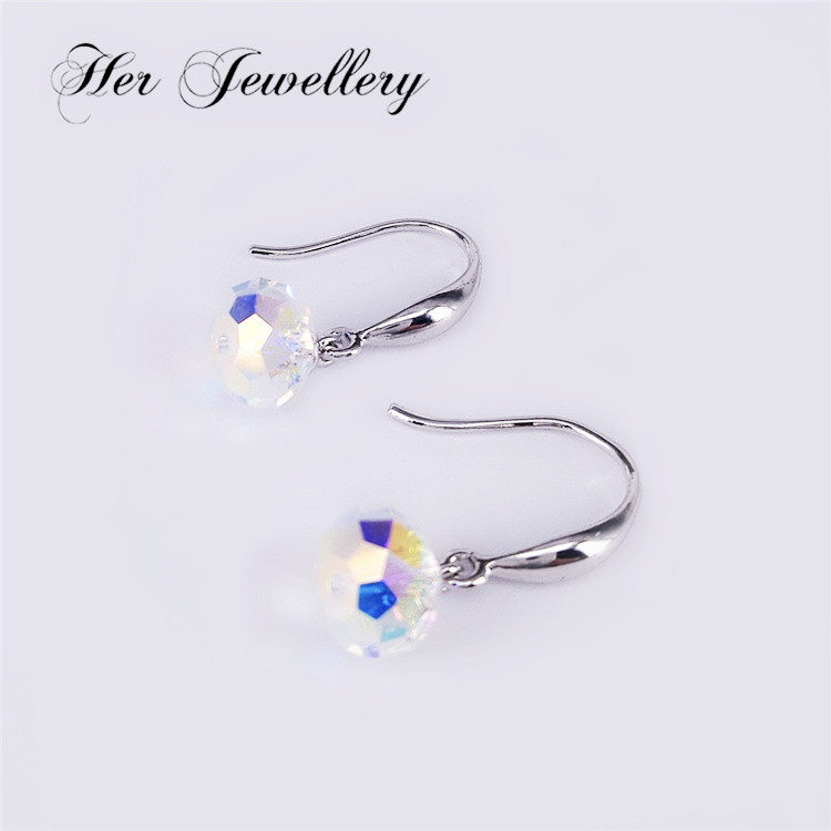 HerJewellery 2017 factory direct simply earring with fancy stone for women Embellished with Crystal from Swarovski HSE0070