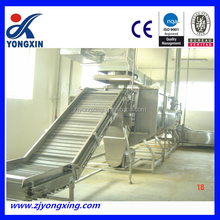 Bubble type fruit and vegetable washing and drying machine , clean vegetable processing line