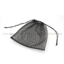 Customized mesh wash bag drawstring reusable promotional bag