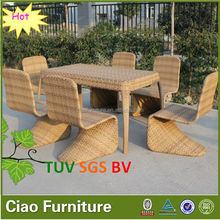 Resin wicker patio furniture outdoor rattan dining table set