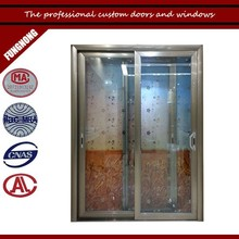 Decorative glass panel doors curtains for cheap glass doors