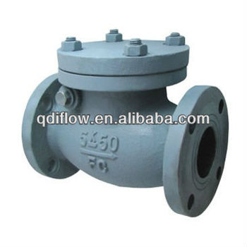 JIS 7373 10K marine cast iron flange type check valve