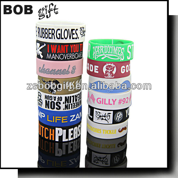 promotional silicone wristband or snap wristband