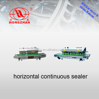 Continuous small plastic bag sealing machine with ink printing