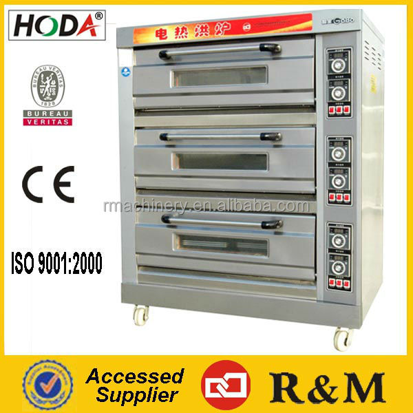 YCD Industrial common stainless steel Gas Oven 3 deck 6 trays uzbekistan Standard