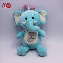 Baby Infant Blue Elephant Plush Toys Comfortable dolls Developmental Activity Cute Soft Toys for Boy Girl