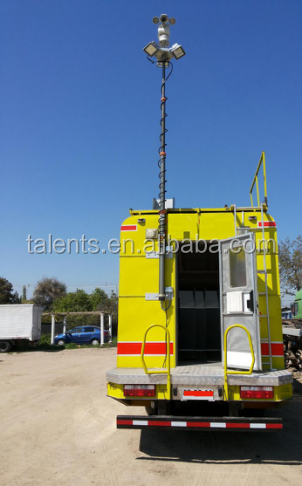 8m vehicle-mounted pneumatic telescopic antenna mast