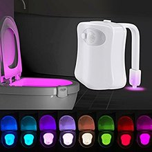 In Stock Now 8 colors Toilet Bowl Light Motion Activated Toilet Nightlight Motion Sensor Light