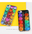 for iphone 7 plus case embossed painted soft, cover retro creative paint box for iphone 7 plus