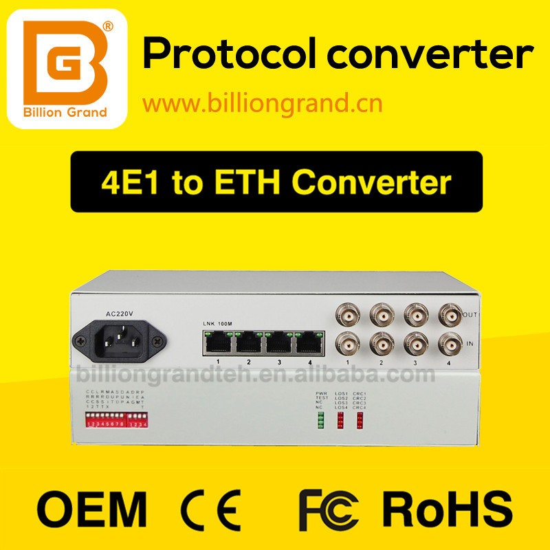 protocol converter Ethernet to E1 converter optical monitoring