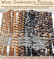 Philippine wood components jewelry