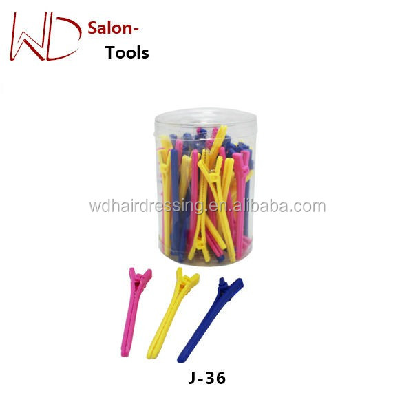 Wholesale plastic hair salon clip hair clip for hairdresser
