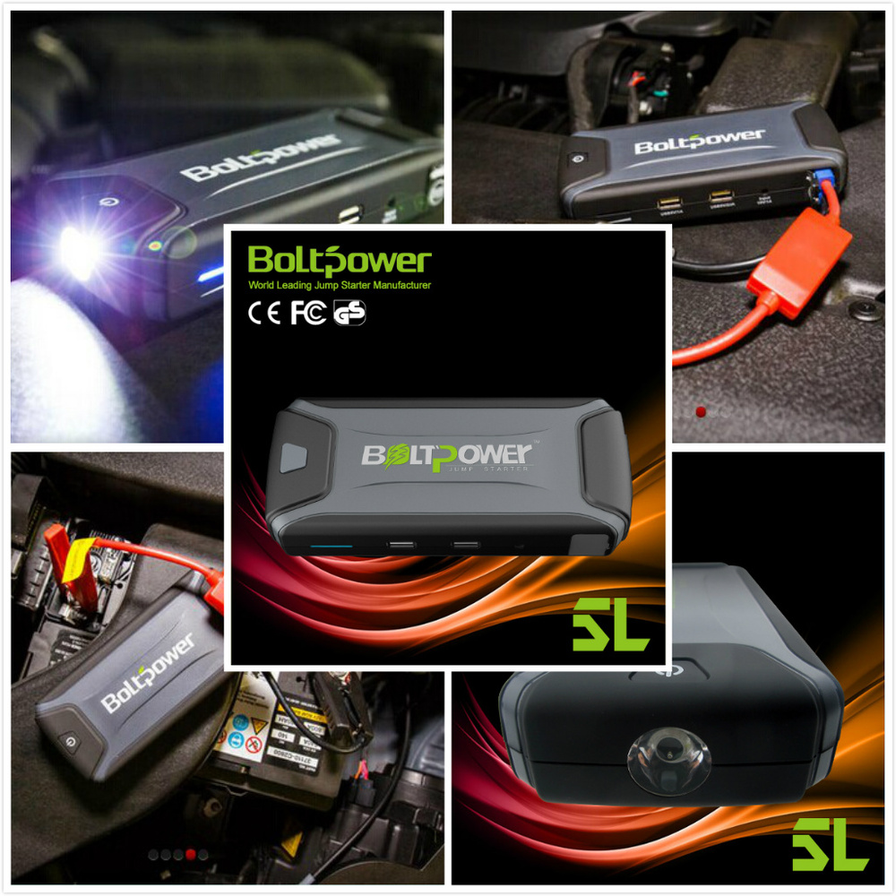 never afraid of flat tire lithium battery power bank 4 hours full charge with SOS function