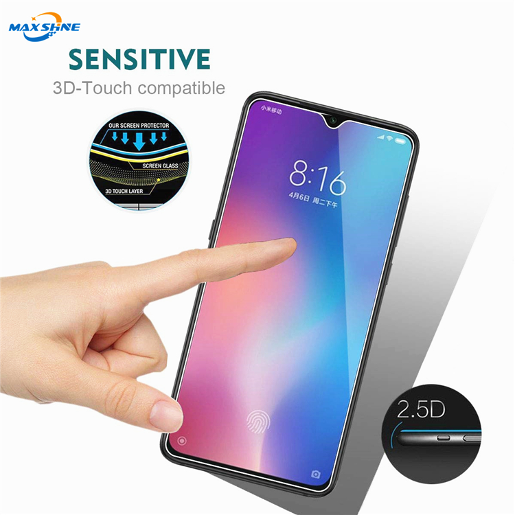 Maxshine New Arrival 9h 2.5D Tempered Glass Screen Protector for xiaomi  9