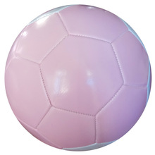 Pink PVC machine sewing soccer ball