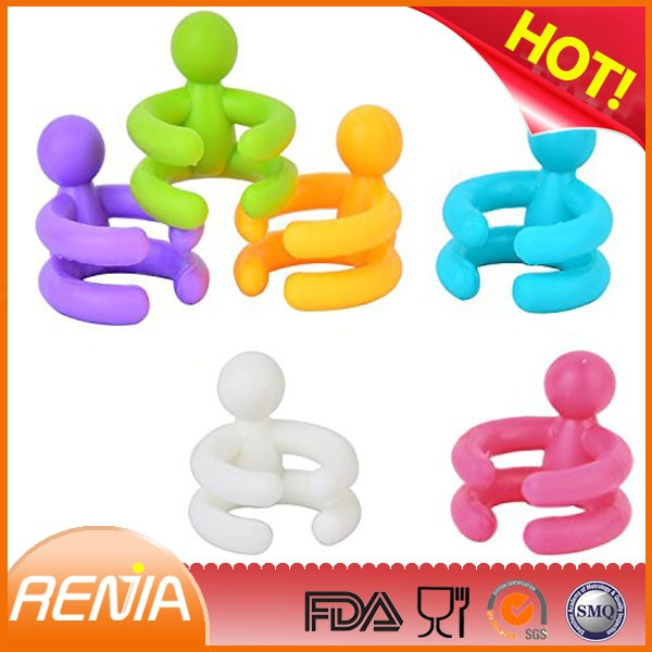 RENJIA silicone wine bottle stoppers stainless steel wine stoppers rubber wine stoppers