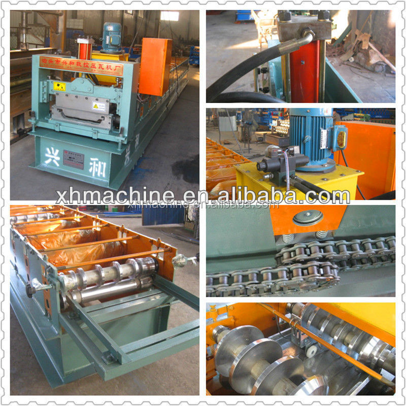 Trade Assurance XH 470 Joint-hidden Tile Trapezoid Cold Roll Forming Machine With Manual / Hydraulic Uncoiler