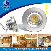 2016 newest dimmable 6w cob led recessed ceiling light,led ceiling light, led recessed light