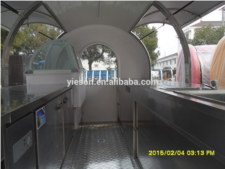 drop shipping towable food electric outdoor trailer sale from factory