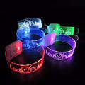 Party Supplies Custom Logo TPU Transparent Sound Motion Sensor Light Up Led Flashing Bracelets