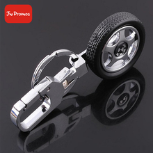 wholesale metal alloy automotive car wheel auto parts keychain