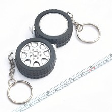 Tyre Shape 1m flexible perforated mini pocket retractable tape measure steel