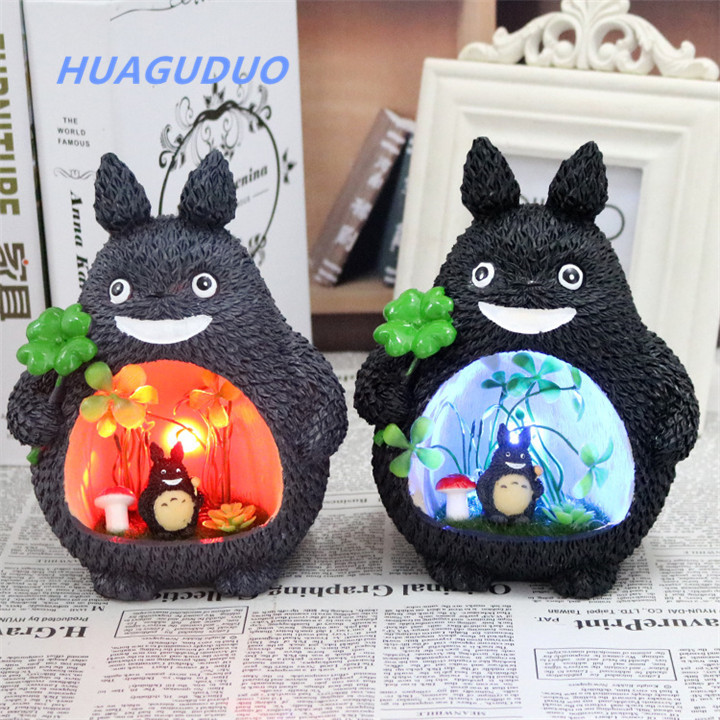 Hot sale in Japan <strong>crafts</strong> for kids creative cartoon Resin Totoro novelty personalized valentines gifts for girls kids night light