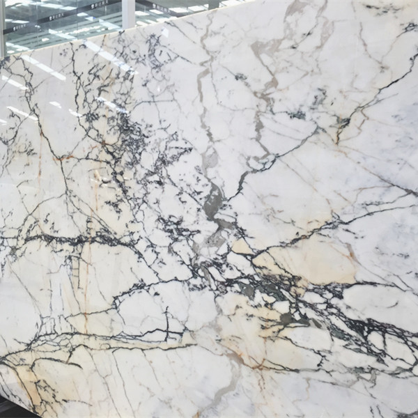 Italy quarry Calcatta white stone Calacatta gold marble slab for bathroom design