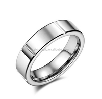 2016 New Design Groove Tungsten Fashion Jewelry, 5mm Stylish Groove Tungsten Wedding Band For Women Size 4 To 9