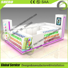 Shopping mall design cellphone accessory kiosk display