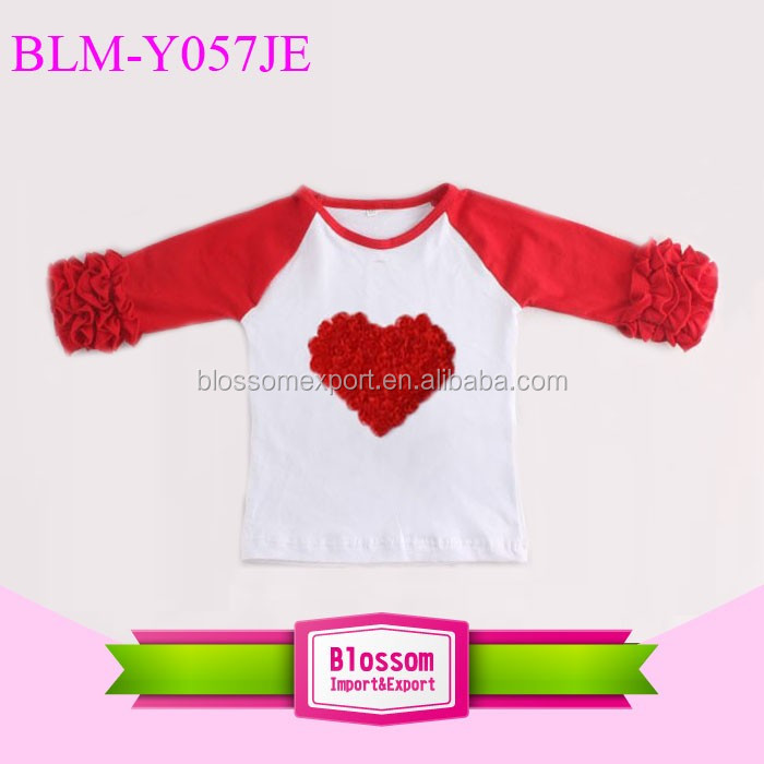 Monogram Blanks Mommy and Me Shirts Adult Ruffle Raglan Shirt Wholesale Icing Ruffle Girls Leopard Shirt