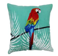 Parrot Design Embroidered Cushion Cover