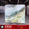 Popular Top Grade Nature Stone Green Landscape Polished Marble