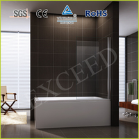 Pivot simple bathtub shower door/screen EX-201-1