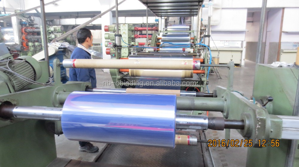 super clear and light blue transparent PVC rigid sheet in roll/blue plastic sheet in rolls