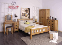 306 Rustic style solid oak full hanging wardrobe/bedroom furniture