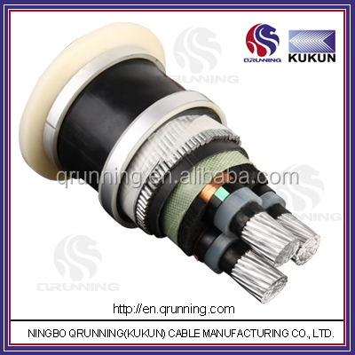 6/10(12)kV Aluminium Conductor XLPE lead Insulation PVC Outer Sheath Power Cable