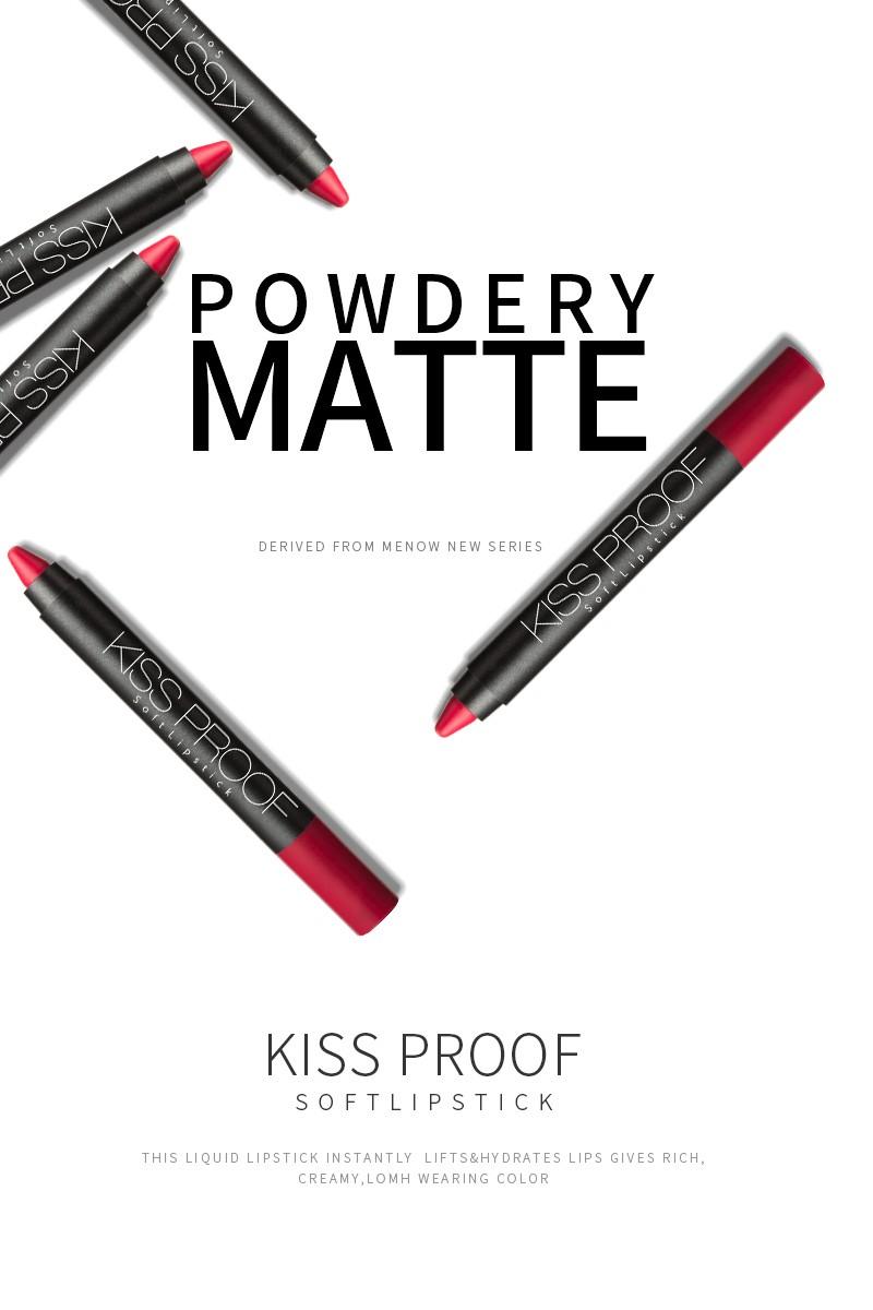 Menow cosmetics P13016 Longlasting waterproof matte lipstick plastic pencil