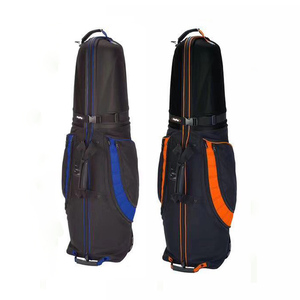 Factory Price Hard PVC top Golf Travel Bag with wheels