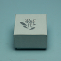Logo embossed or hot stamped custom jewelry box with inner foam