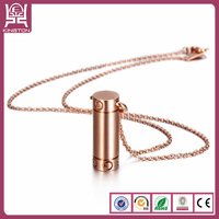 engraved metal fj jewelry column pendant rose gold necklace
