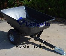 ATV trailer, foldable utility trailer