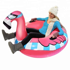 Flamingo and Unicorn Snow Toys Most Popular Inflatable Winter Plastic Snow Sled Tube For Sale