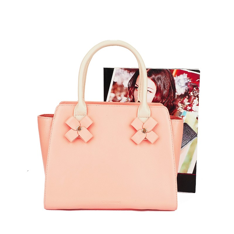 Handbags ladies 2016 cow skin material and full grain leather colorful leather cheap lady tote bag