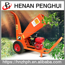 China factory price 15hp engine mobile wood chipper