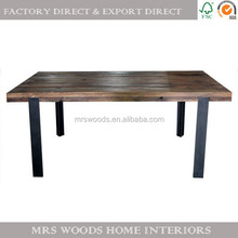 industrial metal frame dining table
